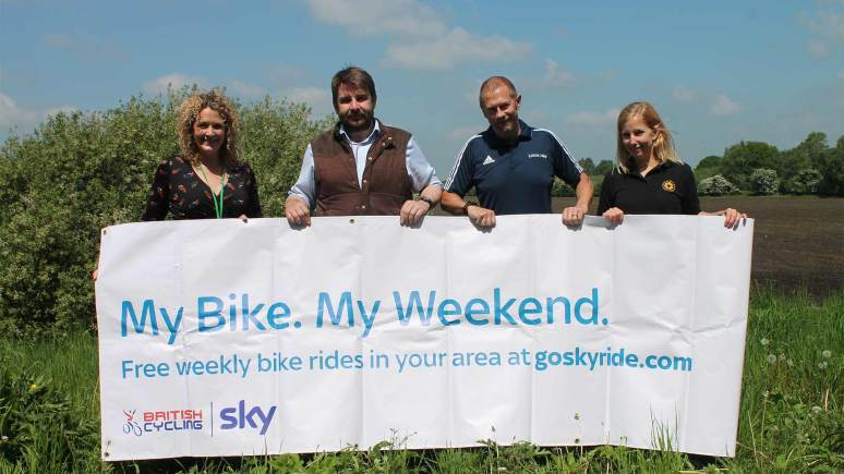 Chantelle Grundy, Access LN6 Project Manager, Lincolnshire County Council Councillor Richard Davies, Executive Councillor for Highways and Transportation, Lincolnshire County Council. Mat Cork from British Cycling and  Sarah Clarke from Lincolnshire Sports Partnership