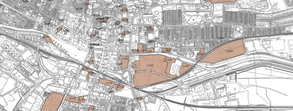 A view of potential redevelopment sites in Lincoln.