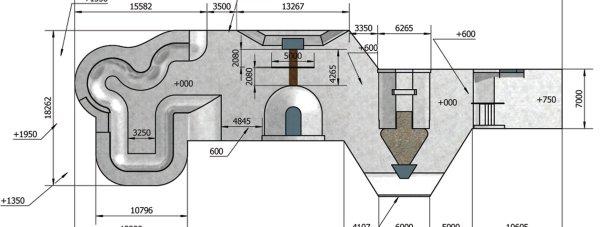 The skate park plans for Hobblers Hole. Photo: Gravity Parks