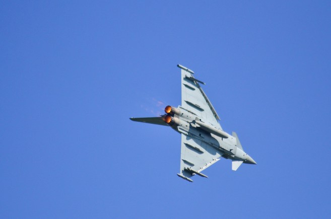RAF Typhoon jets, based at RAF Coningsby. Photo: Steve Smailes for The Lincolnite
