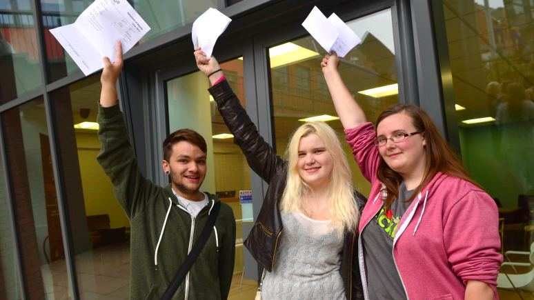 Nicola Parker (right) & friends celebrate their success. Photo: Steve Smailes for The Lincolnite