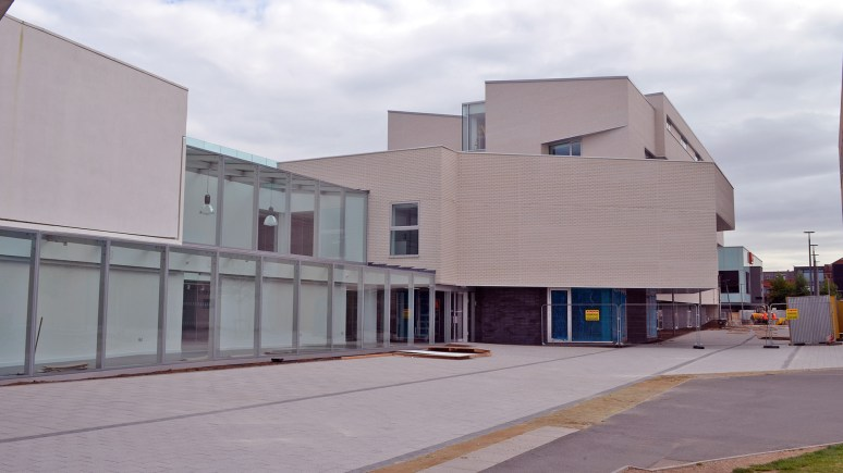 The new Art and Design building links to the current Architecture Building.