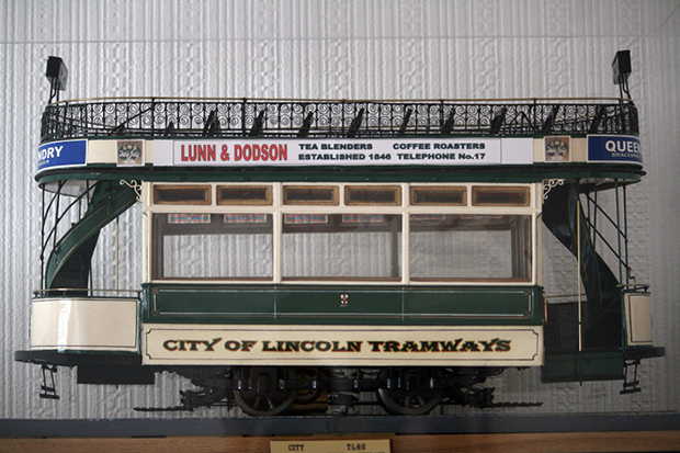 A model of a Lincoln tram built especially in Bristol for Richard Woods' family. Photo: Richard Woods