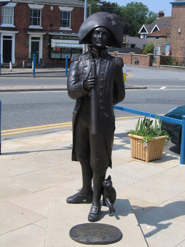 The only other UK statue of Flinders, in his birth town of Donington in south Lincolnshire. Photo: Rodney Burton
