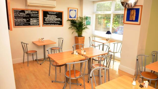 Extra seating area in the refreshed Cheese Society Cafe on St Martin's Lane. Photo: Steve Smailes for The Lincolnite