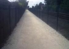 The new pathway on a murky Monday morning. Photo: Nework Rail.