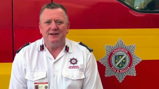 Lincolnshire Fire and Rescue Chief Fire Officer Dave Ramscar