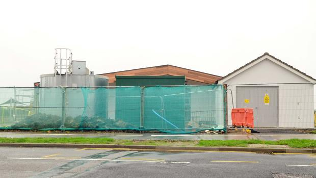 Three auxiliary facilities at the side of the school. Photo: Steve Smailes for The Lincolnite