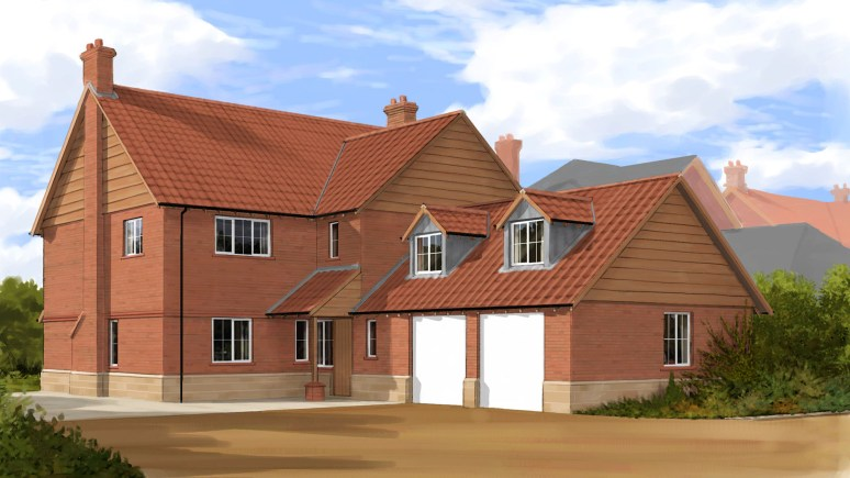 A typical house design by Webster Homes.