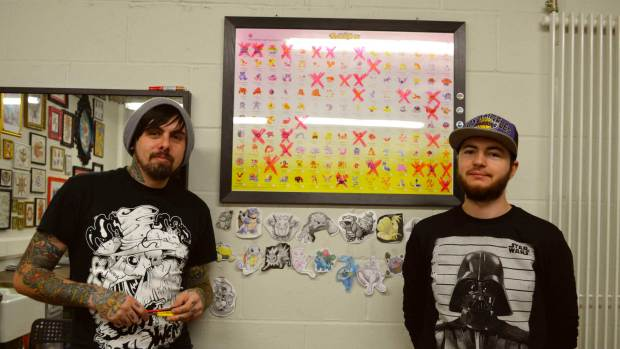 The Lincoln tattoo artists plan to tattoo all the 151 original Pokemon characters for charity.