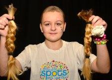 Lincoln teen Keavie-Jaye shaved her head for Children in Need 2013. Photo: Steve Smailes for The Lincolnite