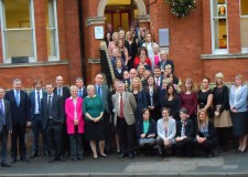The Chattertons McKinnells group at their new joint office on West Parade, Lincoln.