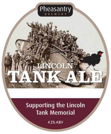 The label for the Lincoln Tank Ale