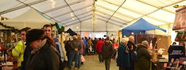 The popular marquee at The Lawn during the Lincoln Christmas Market will be lost. Photo: Steve Smailes for The Lincolnite