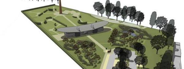 The full layout of the Lincoln Bomber Command Memorial site. Photo: Place Architecture