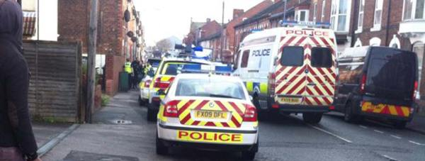 The scene of the arrest on Portland Street. Photo: H Dawson