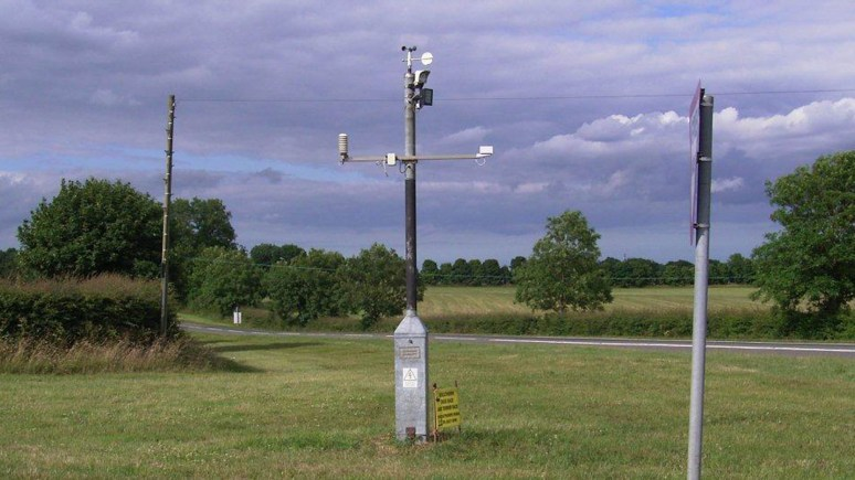 The new Caistor weather station. Photo: LCC