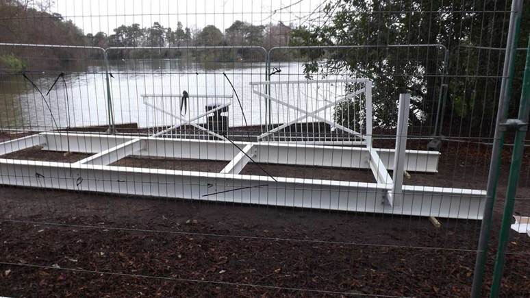 The new frame on site. Photo: Ruth Holland