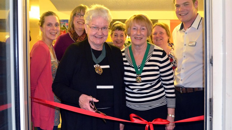Lincoln's Deputy Mayor, Councillor Yvonne Bodger, cut the ribbon and marked the official opening of the centre. Photo: Emily Norton