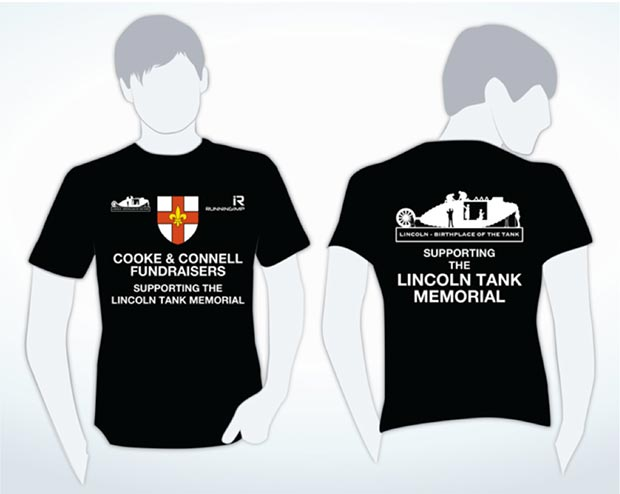 The Tank Memorial's running t-shirt.
