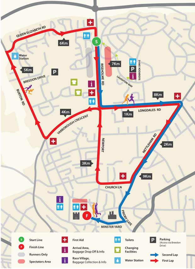 The 2014 10K Road Race route. Source: City of Lincoln Council