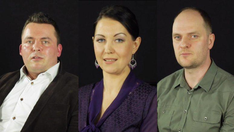 The candidates: Krzysztof Lisiecki, Zivile Zuokiene and Jacek Musialik.