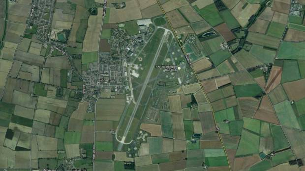 Satellite view of the RAF Waddington base near Lincoln. Image: Google Maps