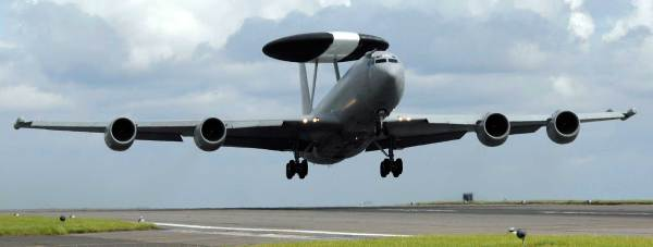 Seven E-3D Sentry surveillance aircraft are based at RAF Waddington, where they are operated by Nos 8 and 23 Squadrons as the UK's contribution to the NATO Airborne Early Warning and Control Force. Photo: Cpl Paul Saxby/MoD