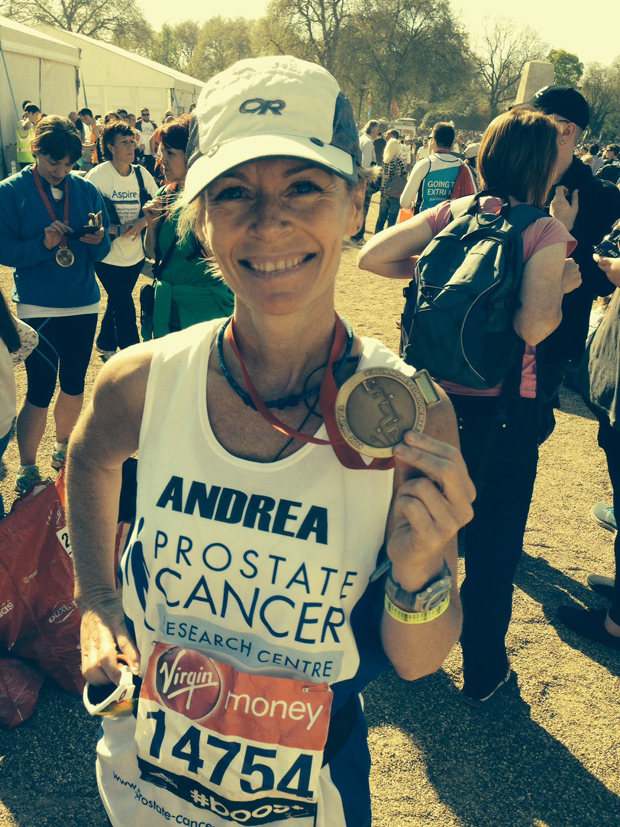 Andrea May raised over £5000 for her chosen charity at the 2014 London Marathon.