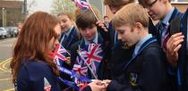 Students from Lincoln Castle Academy admiring Jade's medals. Photo: Steve Smailes for The Lincolnite