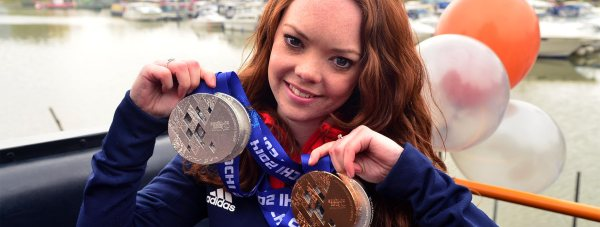 Jade Etherington with her four Winter Paralympic medals. Photo: Steve Smailes for The Lincolnite