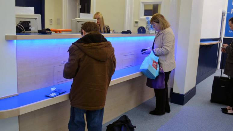 New desks for booking tickets and other rail enquiries.