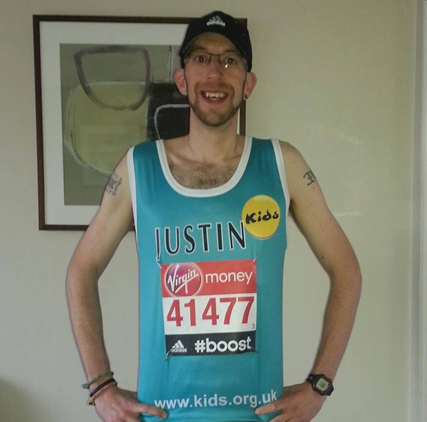 Justin Parker completed the  2014 London Marathon for Kids Strut.