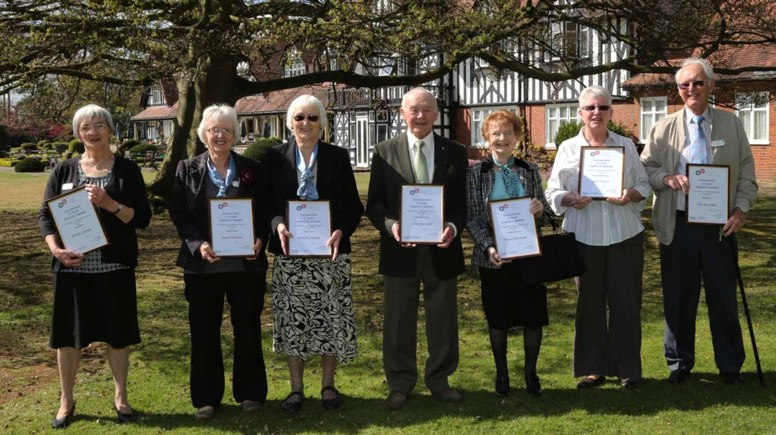 The volunteers receiving awards and the county volunteers day. Photo: Phil Crow