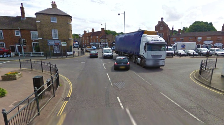Work to resurface the road and improve signalling facilities will take place at the crossroads of the A158 / B1202 junction, Wragby. Image: Google Street View
