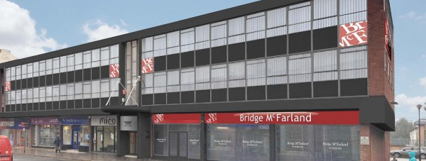Designs for Bridge McFarland Solicitors' new office suites on Lincoln High Street.