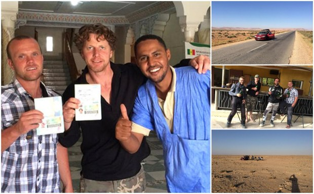 The pair documented their journey on Facebook with photos and messages of thanks for donations.