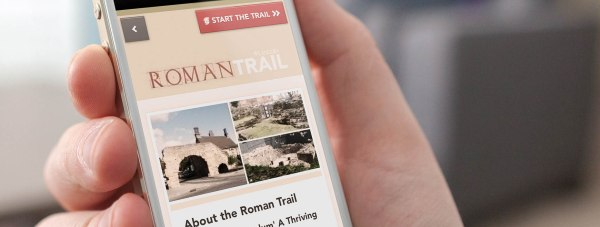 The Roman trail app will be available to download from smartphones as well as viewed online. You can also buy a printed map for £1. Photo: Lincoln BIG