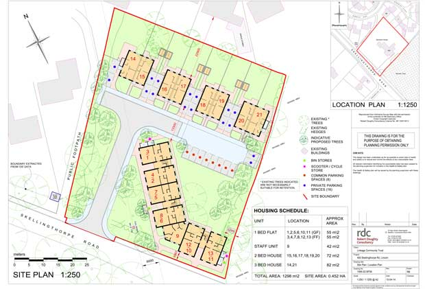 Sampson House Development Location Plan. File: CLC