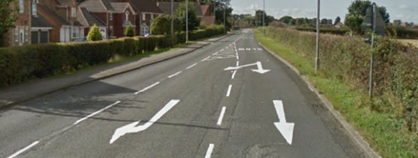 B1131 Canwick Avenue at Bracebridge Heath, Lincoln. Photo: Google Street View