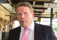 Lincoln MP Karl McCartney at Lincoln Central station. Photo: Steve Smailes for The Lincolnite