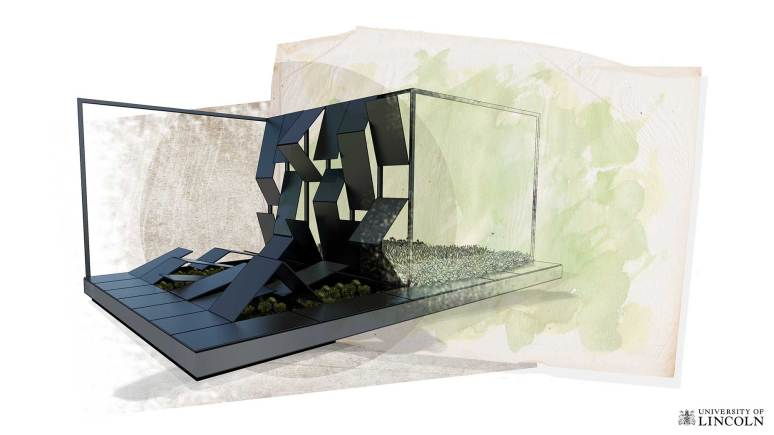 The new design of the social media garden. Photo: University of Lincoln