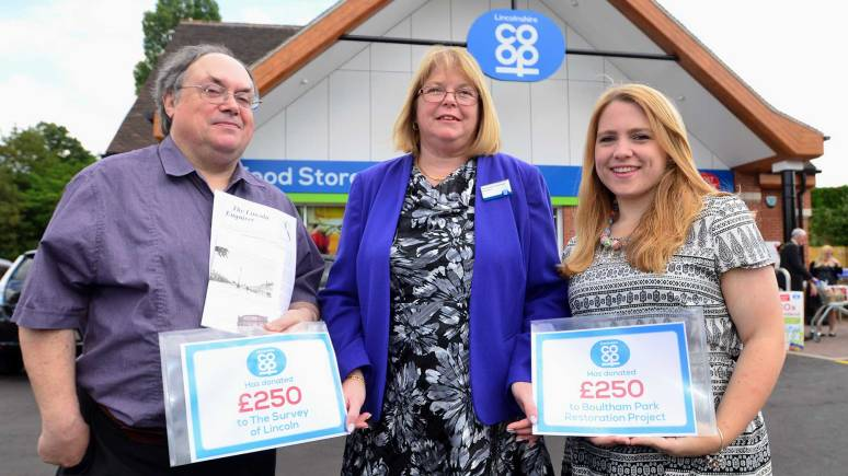 Two local projects received £250 donations for their causes. Photo: Steve Smailes/The Lincolnite