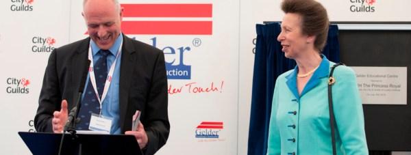 Steve Gelder MBE with HRH The Princess Royal at The Gelder Group's HQ.