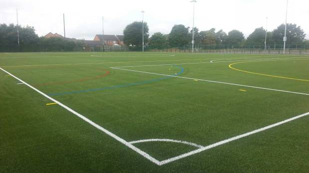 The new 3G pitch at North Kesteven Sports Centre.