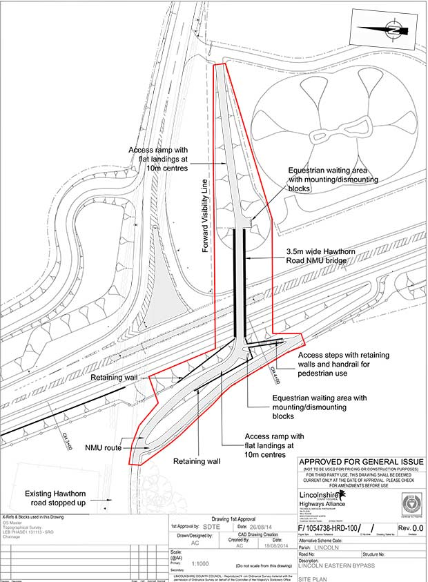 The revised design for the Hawthorne road bridge. Photo: LCC