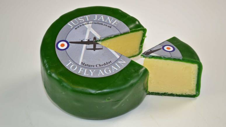 The Lymn Bank Farm Just Jane to Fly Again cheese sold in Lincolnshire Co-operative stores.
