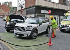 The two vehicles involved in the collision at the Hungate and Casketgate junction.