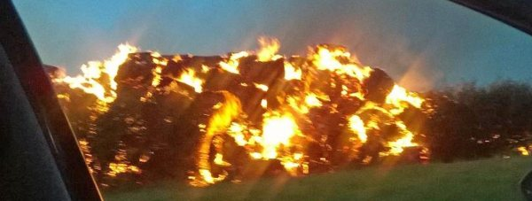 The fire off A158 Wragby Road. Photo: Richard Hardesty