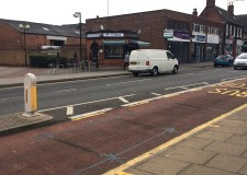 The 45-year-old man was walking near to the Argos store on Lincoln High Street when he collided with an oncoming car.